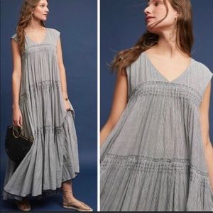 Anthropologie Meera Tiered Maxi Dress